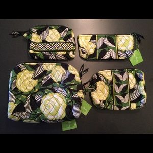Handbags - Vera Bradley Cosmetic set in retired La Neon Rose